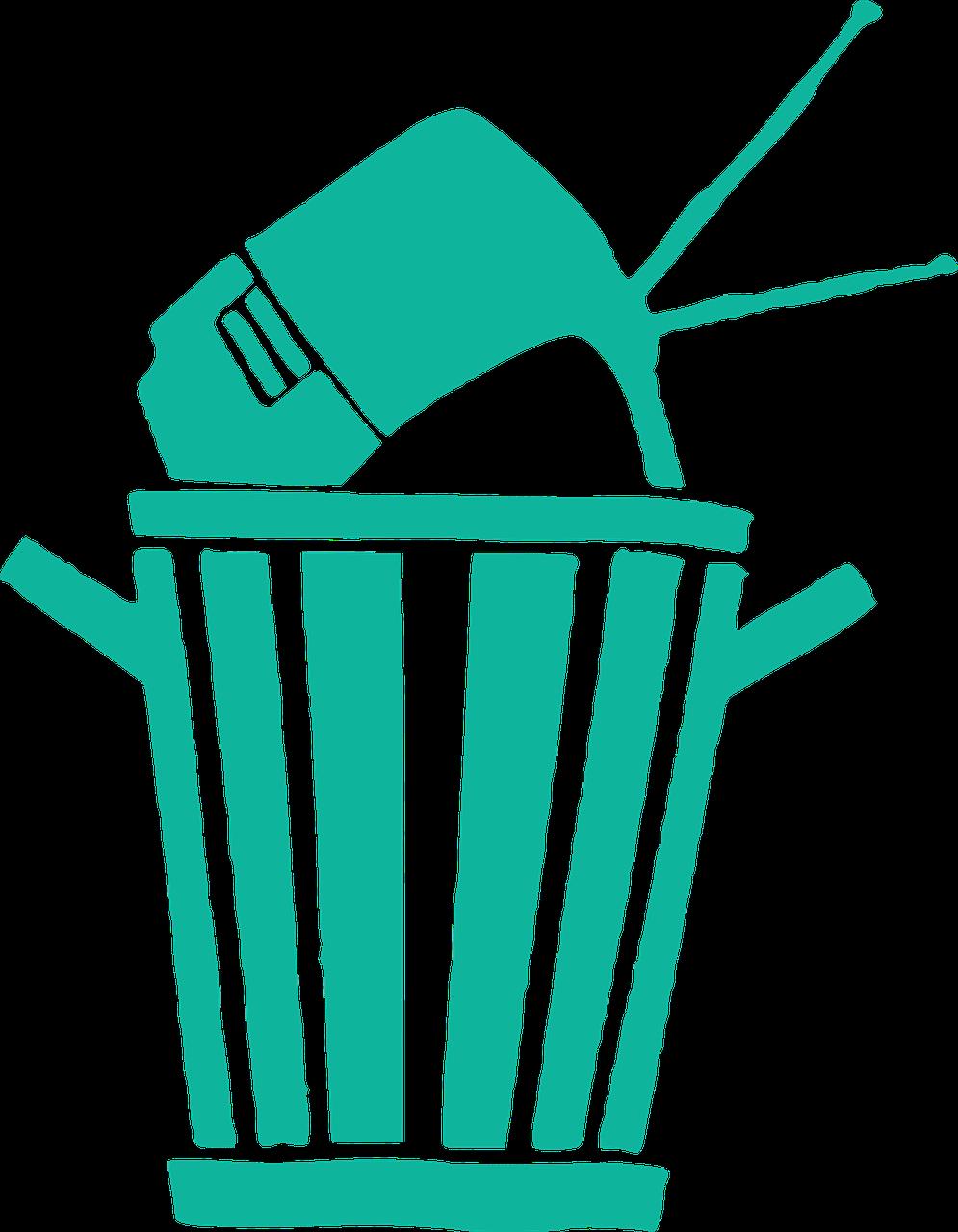 poubelle electronique